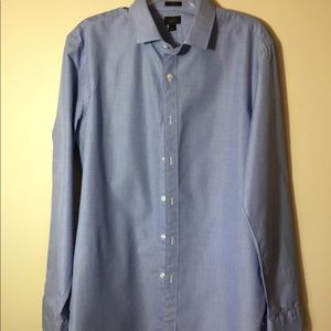 J. Crew Ludlow, blue, like new dress shirt. Size L
